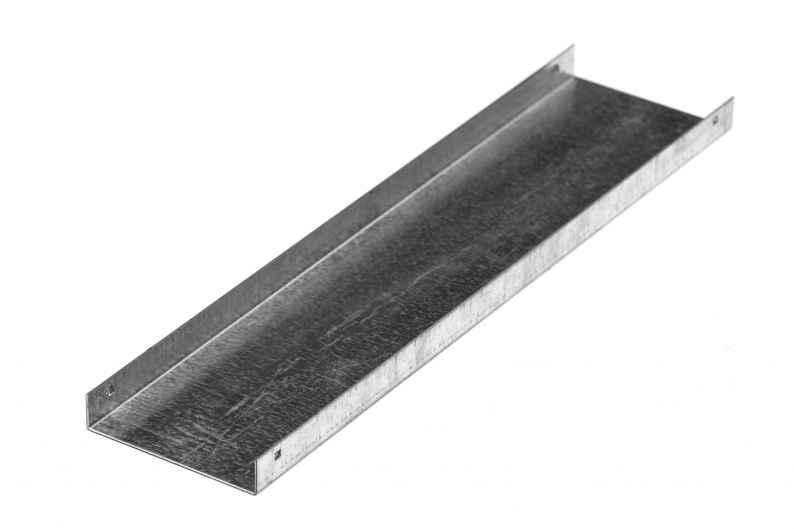 Крышки тройниковых лотков типа КЛКН, с поворотом трассы вниз на 90° и с разворотом основания трассы