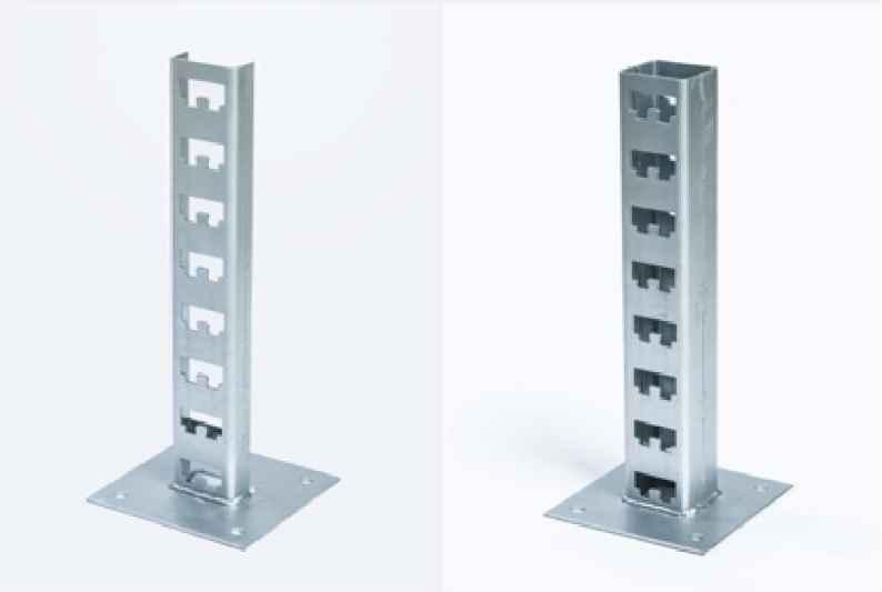 К1159 - основание одиночной стойки (одностороннее/двустороннее) для установки кабельных полок